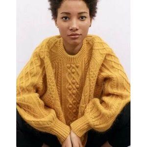 Demylee J.Crew balloon-sleeve sweater S Small NWT